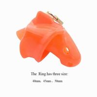Giocattoli del sesso della gabbia del pene di 3 dimensioni rossi per gli uomini, prodotto del sesso della gabbia del silicone del silicone molle spinato, dispositivo di castità della cinghia di castità maschio