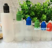 Groothandel LDPE Kinderdichte Sabotage Evident Ring PE E Liquid e Juice Fles 5 ml 10 ml 15 ml 20ml 30ml 50ml 100ml 120 ml plastic druppelaar fles