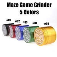 Maze Game Herb Grinder 63 MM Aluminium Alloy Four Layers Smo...