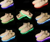unisex sneakers men & women 7 Colors LED luminous shoes snea...