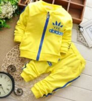 2016 New 100% Cotton Long Sleeves Spring Baby Sets Round Nec...