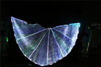 LED открытие крыла бабочки танец живота крыло привело ISIS крыло девушка платья партии бальные танцы платье привело танцевальные костюмы моды плащ