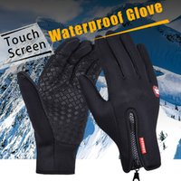 Outdoor Sports Windstopper Waterproof Gloves Black Riding Gl...