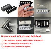100% originale Yocan Evolve Plus Evolve Pandon Evolve-D Torcia NYX Cerum Wax Heril Quartz Dual QDC Ceramic Donut Core Heads Authentic