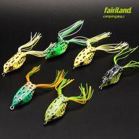 6 adet Fairiland Yumuşak Kurbağa Lure Üç Boyut Boşuna. Zor Balıkçılık Çevre için Topwater Kauçuk Kurbağa Yılanbaş Mandarin Balık Levrek