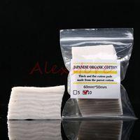 Mini paket 100% Japon saf organik pamuk Fitilleri pamuklu kumaş japonya pedleri MUJI gelen DIY RDA RBA Atomizer Için 10 adet / grup DHL
