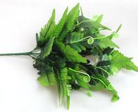 Silk Persia Folha Grupo Verde plantas falsas Fern Verdura Doze hastes para plantas Centerpieces casamento Artificial decorativas