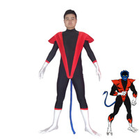 Livraison gratuite X-hommes Nightcrawler Spandex Superhero Costume Halloween Party Cosplay Costumes Sexy Catsuit Zentai Costume
