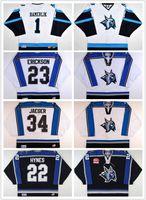 Heißer 2017 Fertigen ECHL Augusta Luchs 1 Peter Hamerlik 23 Mike Erickson 34 Brett Jaeger Mens Frauen Kinder Stickerei Hockey Trikots Goalit Cut