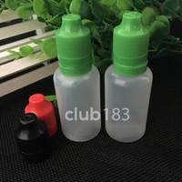 Envío rápido de botellas vacías de plástico 30ml botella cuentagotas 30ml botella cuentagotas inaccesible con tapa y Long Punta Delgada