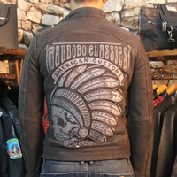 motorcycle leather coat urban baron Mens genuine leather jac...