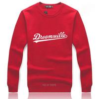 Großhandel-2015 Mode Dreamville Herbst Winter Fleece Hoodie Männer Casual Sportswear Schwarze Hoody Männer Hip Hop Skateboard Sweatshirt Männer Ding