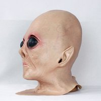Realistic UFO Alien Head Mask Latex Creepy Costume Party Cos...