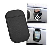 Svart Sticky Anti Slip Mat Non Slip Car Dashboard Magic Sticky Pads Mat för MP3 MP4 Telefon Stick 1200PCS 7 Färger tillgängliga med paketet
