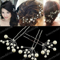 Mariée Accessoires cheveux Pearl demoiselle d'honneur Fleur Coiffe Pins Cheveux Pin mariée Coiffe Bijoux