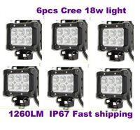 "4 ""18 W CREE LED İş Işık Bar Jeep Spot / Sel Işın Sis Lambası 12 V / 24 V 6LED 1600LM IP67 Offroad Sürüş Motosiklet Kamyon Sis"