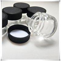 Botella fábrica antiadherente 5 ml de vidrio Capacidad de almacenamiento frasco de vidrio y el plástico transparente vacíos tarro de cristal de grado alimenticio
