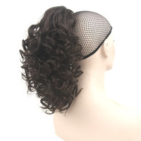 Short Curly Claw Ponytail Hairpiece Synthetic Hair Little Po...