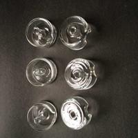 Ferramentas Domeless Quartz Carb Cap Quartz Banger Nails Dab Dabber para fumar cachimbos de vidro Bongs Dab Rigs VS Carb Cap Titanium prego