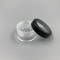 5ML 5G Portable Container Poudre à Maquillage Vide Avec Tamis et Vis Noir Couvercle 10G Loose Powder Case Pot Pot
