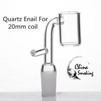 Кварцевые Banger ногтей Enail с крючком 2 мм domeless кварц фейерверк 19.5 чаша диаметром 20мм змеевик для обогрева