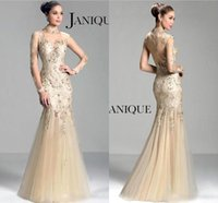 2015 Designer Mermaid Beaded Celebrity Dresses Evening Wear Crystals Sexy Formal Prom Dress Special Occasion Long Party Gowns BO8276