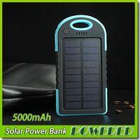 5000MAH 2 USB 포트 태양 전원 은행 충전기 외부 백업 배터리와 소매 상자 아이폰 아이 패드 삼성 무료 배송