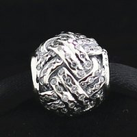 Perle de charme noeud d'amour en argent Sterling 2015 925 avec Cz clair s'adapte aux bijoux européens Pandora Bracelets Colliers Pendentifs