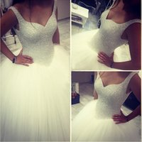 Rhinestone Bling Bling Wedding Dresses Cheap Robe De Mariee ...