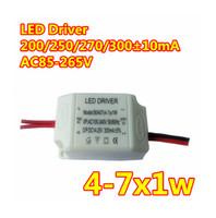 AC85-265V 110V 220V (4-7) x 1W LED 드라이버 5W 6W 7W 전원 공급 장치 조명 변압기 LED 스트립 통에 대 한 내화성