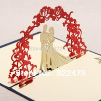 NEW 3D Sweet Handmade Greeting Card Pop Up Cards Thank You Card For Wedding  Invitations 10pcs Lot Free Ship