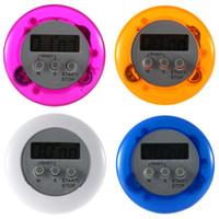 Pişirme Zamanlayıcı Dijital Alarm Mutfak Zamanlayıcılar Gadgets Mini Sevimli Yuvarlak LCD Ekran Count Down Araçları Pil Klip Ile Yüklü