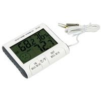 Thermomètre Hygromètre Numérique LCD Thermomètre Hygromètre w / Capteur externe câblé Électronique 2015 Nouveau DC103 H302008 1000pcs