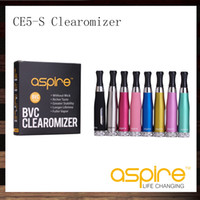 Aspire CE5S BVC Clearomizer CE5S BDC Atomizzatore 1.8 ml CE5-S Clearomizer con BVC BDC Testa bobina di ricambio