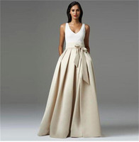 2015 Personalized Long Skirts With Sash Ribbon Pleats Bust W...