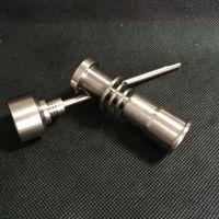 Titanium ногти ногтя Domeless GR2 G2 Titanium для катушки Dnail D-ногтя подогревателя 16mm испаритель воска для joint14mm 18mm стеклянный волынщик воды Бонга