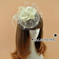 17 Farben Nettes Mädchen Fascinator Braut Hüte Feder Blumen Kopfschmuck Hochzeit Haarschmuck Cocktail Party Headwear Fabrik Verkauf
