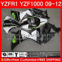 YAMAHA YZF 1000 R 1 화이트 블랙 YZF-1000 YZF-R1 09 12 바디 85NO14 YZF1000 YZFR1 09 10 11 12 YZF R1 2009 2010 2011 2012 페어링