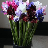 Artificial Fake Irises Flower Posy Home Decor Real Touch Sil...