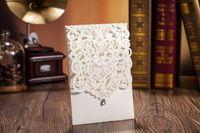 Cartões de convites de casamento de corte a laser Personalizado Oco Casamento Convites Cartas de Casamento Suprimentos Livre Personalizado Impressão Quente