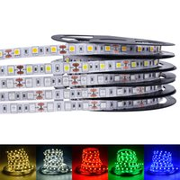 LED Strip Lights 5050 3528 5630 3014 2835 SMD caldo bianco rosso verde blu rgb flessibile 5m rotolo 300 LED nastro impermeabile / non impermeabile