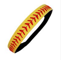Headband de couro de softball 2015 mais barato EUA softall esportes costura de costura vermelha headbands de softball de couro genuíno amarelo