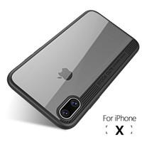 الأحدث لفون X حالة ترف TPU + اكريليك شفاف الغطاء الخلفي لقضية الحالات الهاتف iPhoneX أبل ل iPhone 10 الغلاف