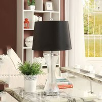 Table Lamp Modern Fashion Simple Fabric K9 Crystal Desk Lamp...