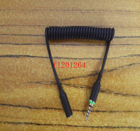 100 pz / lotto spedizione gratuita 3.5mm primavera cavo audio adattatore per auricolare spina cavo adattatore di ricambio per iphone 6 custodia impermeabile