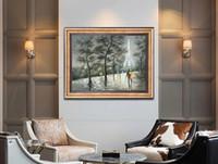 Reine handgemalte ölgemälde moderne hause einfache dekorative stil leinwand wandbild hochwertige farbe palette dicken öl messer malerei JL229