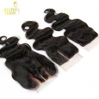Malaysian Body Wave Lace Closure Free Middle Three 3 Way Part Closures Bundles Virgin Malaysian Human Hair Lace Top Closure Free Shipping