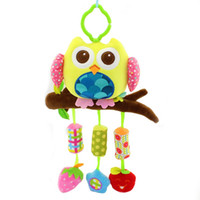 happy monkey 40cm Baby plush Owl lathe hanging bells Baby to...