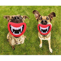 New Durable Safe Funny Squeak Dog Toys Devil's Lip Sound Cane che gioca / masticare Puppy Make The Dog Happy
