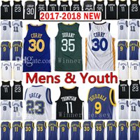 2017- 18 New Men' s Youth 30 Stephen Curry 35 Kevin Duran...